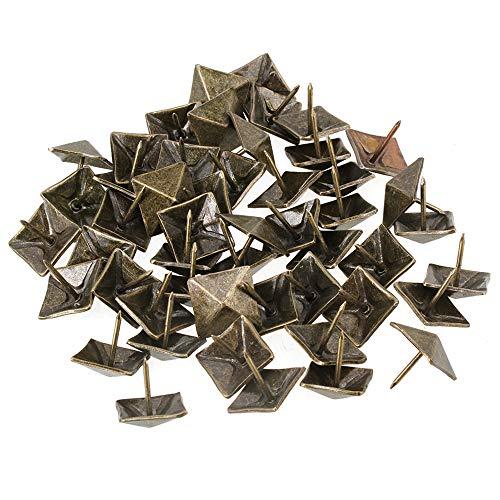BQLZR 50PCS 19 x 21mm Viereck Kegel Nägel Pyramide Ziernägel Antik Möbel Polsternägel