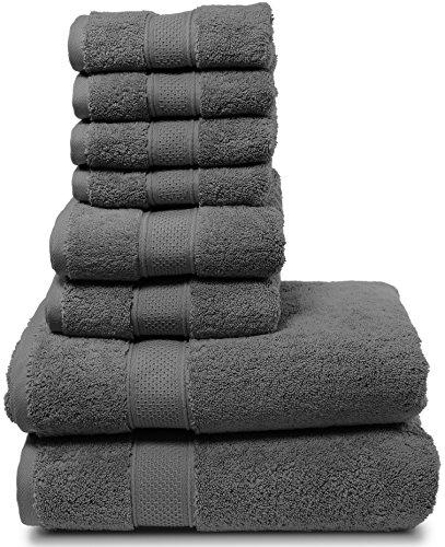 Juego de toallas de baño, juego de 8 piezasColección de 2017.2toallas de ducha, 2toallas de mano y 4toallitas.Toallas turcas de alta calidad.De gran suavidad, esponjosas y muy absorbentes.