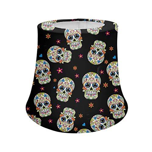 Advocator Sugar Skull Fashion Schwarze Stofflampen decken Lampenschirm mit Metallrahmen ab. Langlebige Spinne Modell Empire Lampenform für Schlafzimmer/Wohn- / Esszimmer