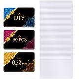 Tarjetas de Visita de Metal de Sublimación 0,32 mm de Espesor 3,4 x 2,1 x 0,013 Pulgadas Tarjeta de Nombre en Blanco de Aluminio para Cliente Impresión Grabada Color UV Blanco (50 Piezas)