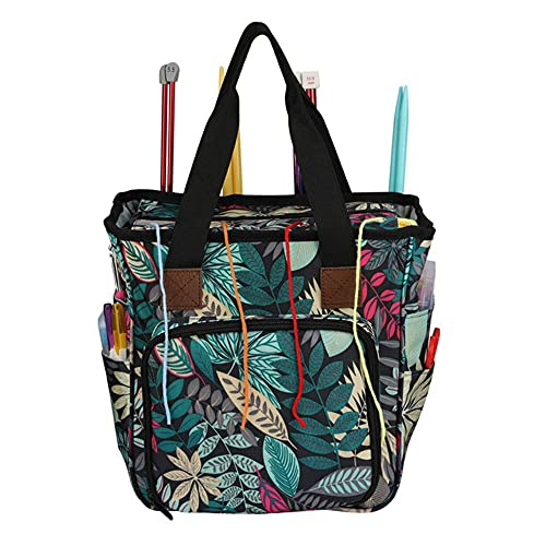 Bolsa de almacenamiento vacía de 4 estilos para ganchos de ganchillo y agujas de tejer, bolsa de...