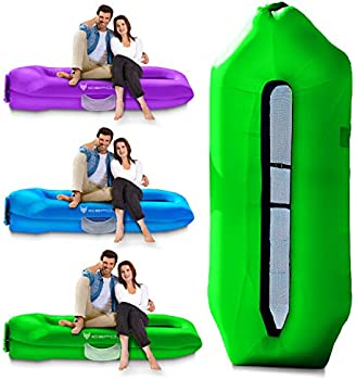 Icefox Inflatable Couch with Cool Beach Inflatable Lounger