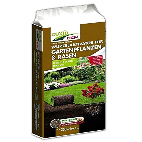 Cuxin DCM Wurzelaktivator für Gartenpflanzen & Rasen, NPK-Dünger (5-4-3), 10,5 kg