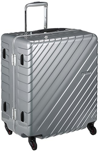 [ヒデオワカマツ] スーツケース フレーム ナロースクエア 軽量 無料預入 85-76530 保証付 80L 60 cm 4.3kg シルバー