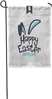 Semtomn Garden Flag Rabbit Happy Easter Bunny Ears Calligraphic Season Love Chocolate Cute Home Yard House Decor Barnner Outdoor Stand 28x40 Inches Flag