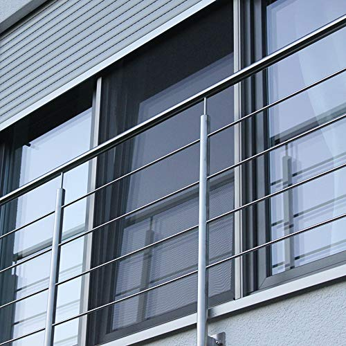 Fliegengitter Elektrorollo für Türen - großes 83mm x 83mm Gehäuse - max. 2,4 m Breite und 2,4 m Höhe - einfache Montage - Insektenschutz Rollo