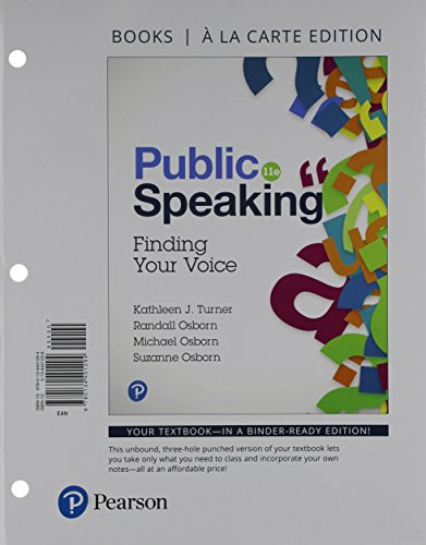 Public Speaking: Finding Your Voice -- Books a la Carte (11th Edition)