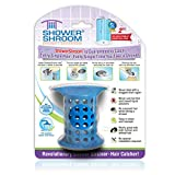 ShowerShroom the Revolutionary 2' Stand-Up Shower Stall Drain Protector Hair Catcher/Strainer, Blue
