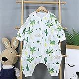 B/H Accappatoio neonata,Abbigliamento a Maniche Lunghe in Cotone, Sacco a Pelo Sottile per Bambini, Doppio Strato a Gamba Divisa-D_M