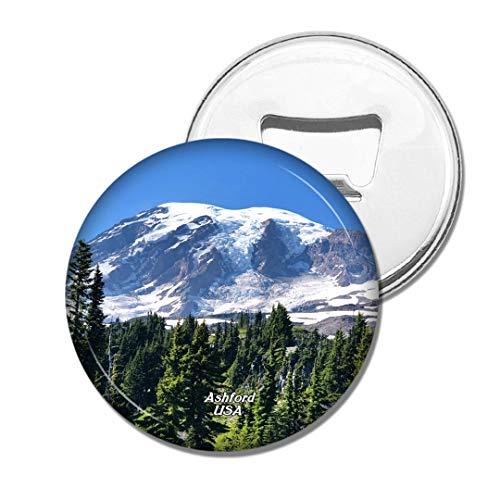 Weekino Amerika USA Mount Rainier National Park Ashford Bier Flaschenöffner Kühlschrank Magnet Metall Souvenir Reise Gift