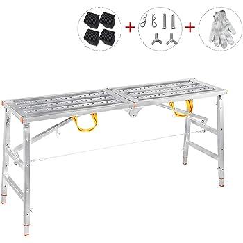 Aleación de Aluminio Multifuncional andamio de elevación Plegable Escalera portátil Escalera de Plataforma doméstica (Tamaño : L-160CM): Amazon.es: Hogar