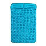 LFDZSW Cama Inflable de Doble Cama con Doble Dormir al Aire Libre Camping de Camping Colchón de Viaje Ultralight Portátil Tienda de campaña Sofá Cama (Color : Green)