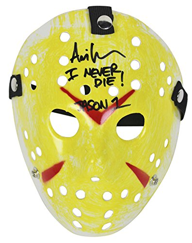 Ari Lehman Friday The 13th 'I Never Die! Jason 1' Signed Yellow Jason Mask BAS