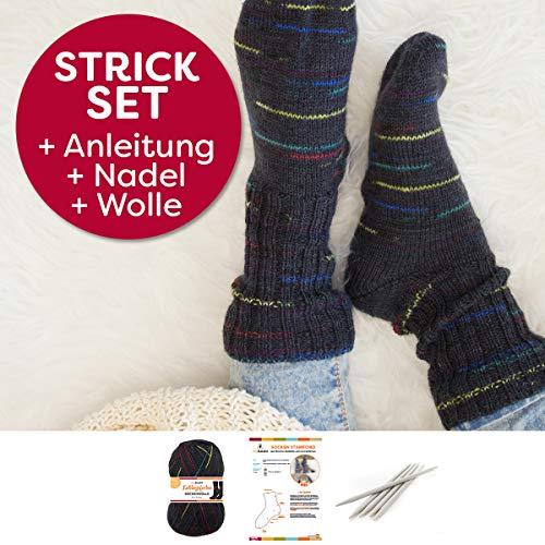 myboshi Socken Strick-Set | Lieblingsfarben Sockenwolle | 4-fädig und filzfrei | mit Stricknadeln | Karl Kaiser