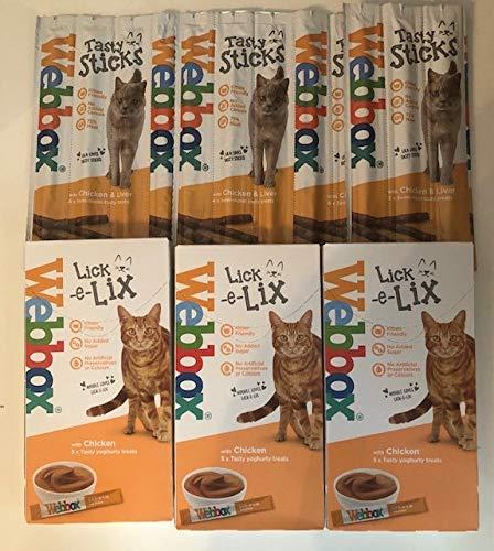 Surrey Feed Webbox Cat Treats Hamper (Lick-e-Lix/Tasty Sticks) - Chicken Flavour