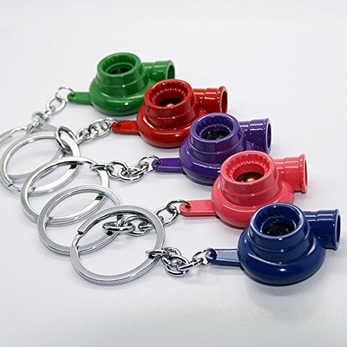 Porte-clés – Turbo – Bleu Rouge Vert Rose Violet Turbo Boost voiture Métal pendentif clé