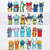 24pcs / set Lindo dibujos animados Slugterra PVC Figura de acción Toys Juguetes Regalo para niños de 4 a 5 cm