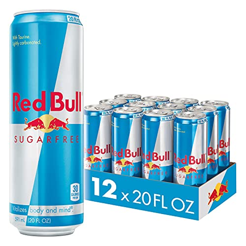 Red Bull Sugar Free Energy Drink, 20-Ounce (Pack of 12)