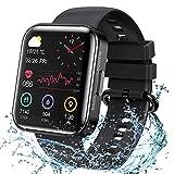 KOSPET Smartwatch, orologio da polso da 1.71 pollici, touch screen, fitness tracker con misurazione della pressione sanguigna, monitoraggio del sonno, cronometro, smart watch per uomo e donna