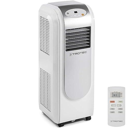 TROTEC 1210002004 Climatiseur local, climatiseur monobloc PAC 2000 E de 2,1 kW (7.200 Btu) EEK A (fonction minuterie, télécommande infrarouge, trois vitesses de ventilation, Direction de soufflage ajustable)