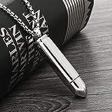 QNMM Ciondolo Proiettile in Acciaio Inossidabile Collana di Ceneri di Urna Croce Lord Preghiera in Inglese