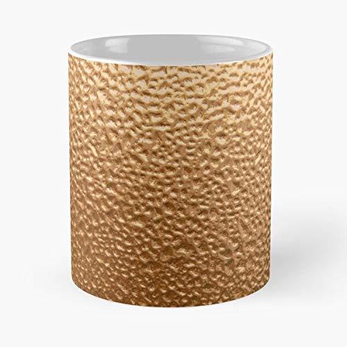 Ice Dimpled Metal Copper Best 11 oz Kaffeebecher - Nespresso Tassen Kaffee Motive