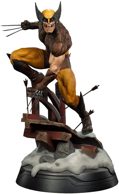 promociones emocionantes Wen Zhe La decoración de Estatua Estatua Estatua de 10 Pulgadas Wolverine de X-Men Puede Cambiar la Cabeza Modelo de Juego  colores increíbles