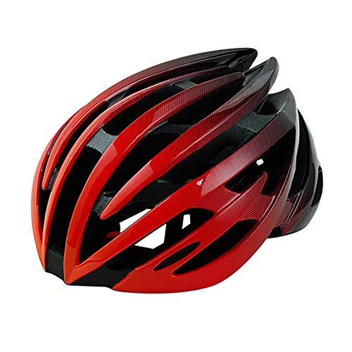 Fahrradhelm ZWRY Herren Damen Erwachsene Downhill-Fahrradhelm 54-60 cm MTB Road Mountainbike-Helm 54-60 cm rot schwarz 1