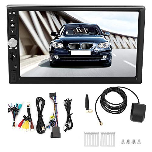 Qiilu Auto GPS Navigatie Systeem, 7 in PX5 4 GB+64 GB Auto DVD GPS Wifi Radio Stereo Navigatie Systeem voor Android 9.0 Built-in America Map Standaard