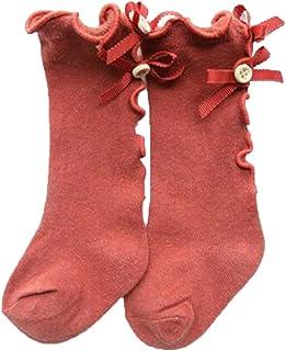 Bodhi2000 - Calze alte al ginocchio, con increspature, per neonate e bambine