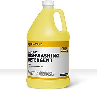 AmazonCommercial Heavy-Duty Dishwashing Detergent, Citrus, 1-Gallon, 2-Pack