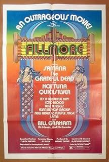 Fillmore - Original Folded One Sheet Movie Poster (1972)