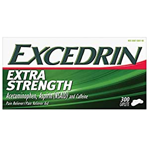 Excedrin Extra Strength's combination of active ingredients - Acetaminophen, Aspirin and Caffeine offer a fast-acting, non-prescription headache pain reliever alternative For the temporarily relief of minor aches and pains due to headache, cold, arth...