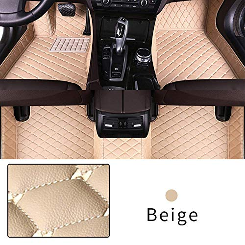 Car Floor Mat Customize For BMW Heavy Duty XPE Leather Make Car mat Interior Floor Dirty protection waterproof Non-slip Mat Beige