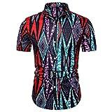 (B03,XL)アロハシャツ メンズ 半袖 カラー付き 柄 通気速乾 UVカット カジュアル プリント 超軽量 夏服