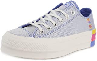 Converse Chuck Taylor All Star Lift Rainbow Womens Blue Ox Trainers