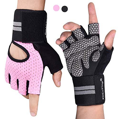 Fitself Fitness Handschuhe Trainingshandschuhe Gewichtheben Handschuhe mit Handgelenkstütze für Kraftsport Workout Herren Damen