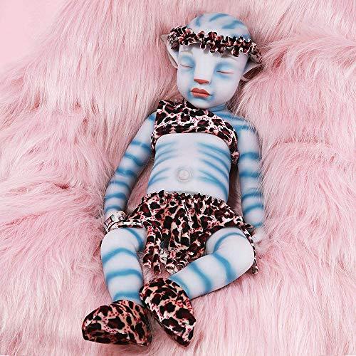 JINGBO Muñecas de silicona para bebé, muñeca realista de 22 pulgadas, no de material de vinilo, muñecas de silicona de cuerpo completo, muñeca de bebé recién nacido hecho a mano realista