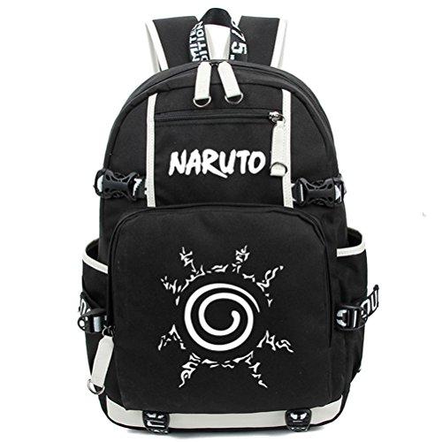 YOYOSHome Naruto Anime Uzumaki Cosplay Luminoso Messenger Bag Mochila escolar