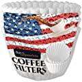 Coffee Filters 8 to 12 Cup Basket, Premium White Paper 100