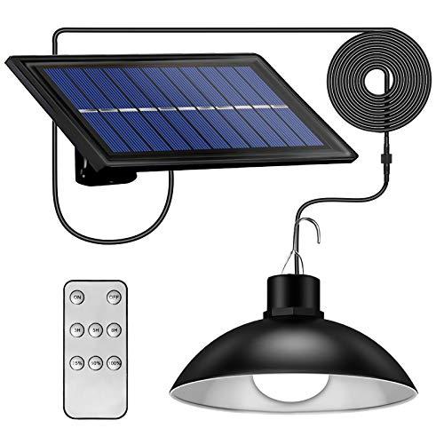 Swonuk Lampade Solari a Sospensione per Esterni IP65 Impermeabile 30LED Retrò Lampada Solare da Parete con Telecomando, per Giardino/Campeggio/Garage/Balcone