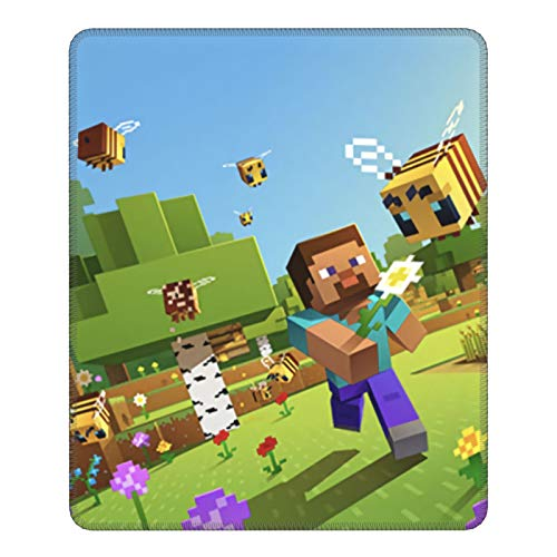 Mi-Necraft Mouse Pad Gaming Mouses Pads Large Gaming-Non-Slip Rubber Base for Laptop-Computer-Waterproof Mousepad7.9 X 9.5 in