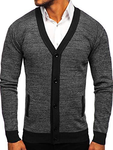 BOLF Hombre Jersey De Diseño Melange Pulóver Cuello Elevado Estilo Diario 5E5