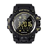 PWE-Reloj Digital Deportivo EX16S,con Podómetro,Contador,Cronómetro,Cámara Remota,50M Resistente Al Agua,Negro