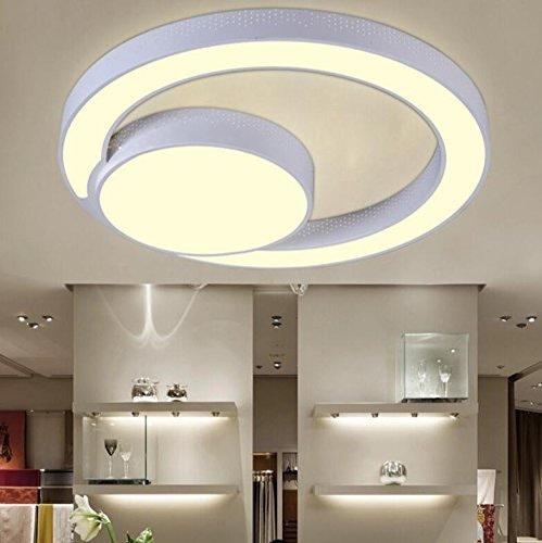 Plafond Plafond Led Lumière Chose Ronde Lumière Lumière Plafond Salon Chambre à Coucher Moderne Créative Lumière Plafonnier Fer (Couleuré  Gradation Promesse-31Cm)