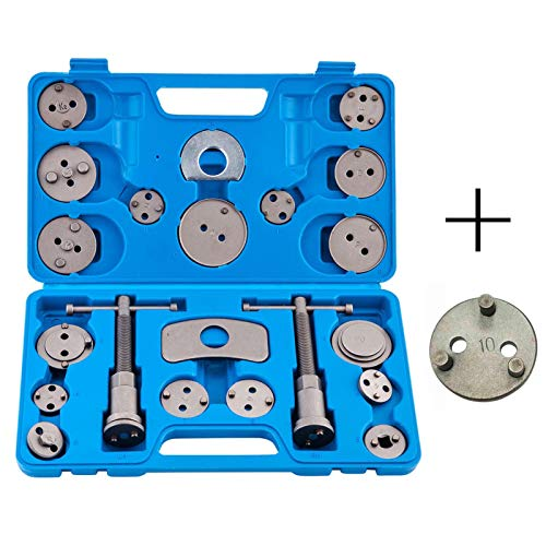 22pcs Disc Brake Caliper Wind Back Tool Set, Front and Rear Brake Piston Compression Tool for Disc Piston Rewind