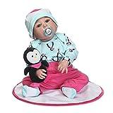 Nicery Reborn Baby Doll Puppe Harter Simulation Silikon Vinyl 22 Zoll 55 cm magnetisch Mund...