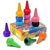 WATSABRO Crayones para niños pequeños, 12 Colores Pintura Crayones con Agarre de Palma para bebés Crayones Pintura Lavable para Dedos Crayones no tóxicos, niños, niños, niños y niñas