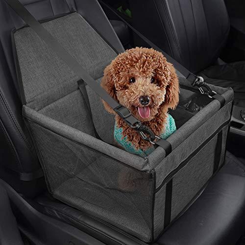 IvyLife Seggiolino Auto per Cane Coprisedile per Cane Animale Borsa Anteriore Singolo Coperta Telo per Proteggere Sedile di Automobile Impermeabile Grigio