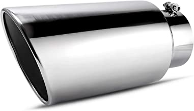 5 Inch Inlet Chrome Exhaust Tip, AUTOSAVER88 Diesel Exhaust Tailpipe Tip for Truck, 5